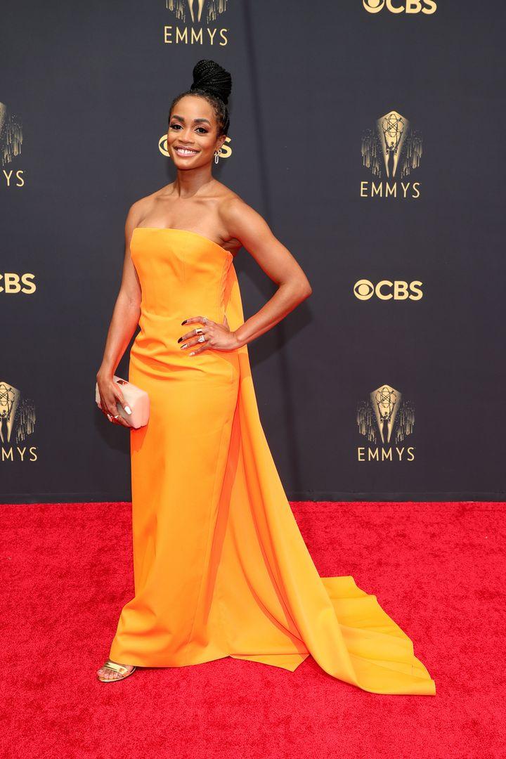 LOS ANGELES, CALIFORNIA - SEPTEMBER 19: Rachel Lindsay attends the 73rd Primetime Emmy Awards at L.A. LIVE on September 19, 2