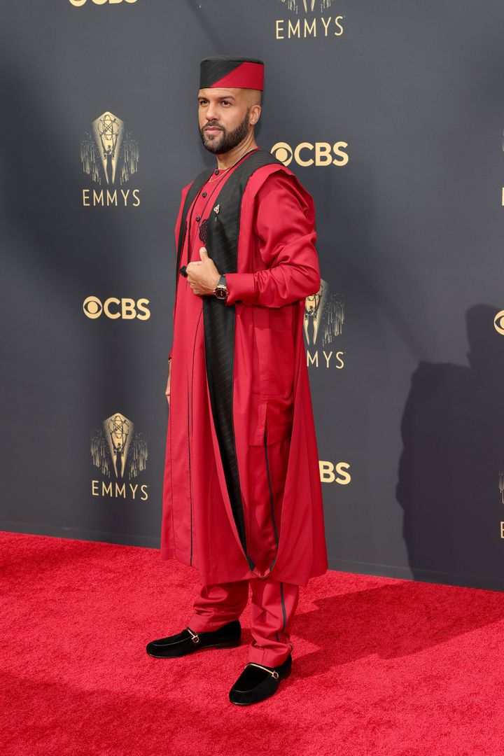 LOS ANGELES, CALIFORNIA - SEPTEMBER 19: O-T Fagbenle attends the 73rd Primetime Emmy Awards at L.A. LIVE on September 19, 202