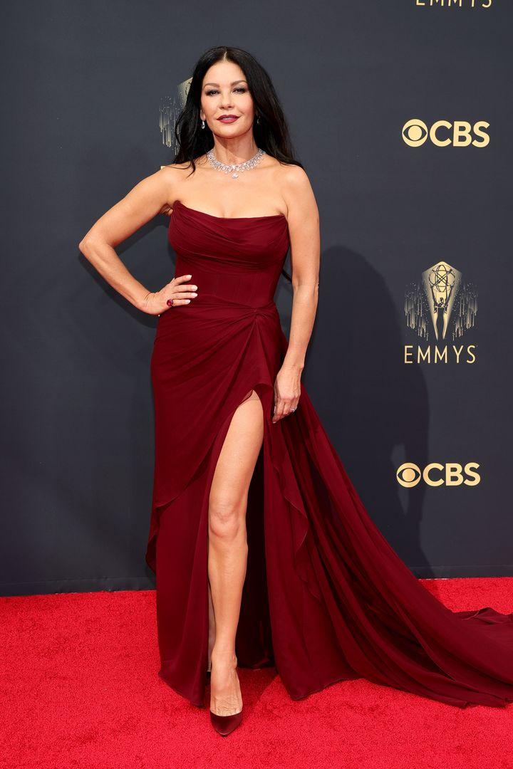 LOS ANGELES, CALIFORNIA - SEPTEMBER 19: Catherine Zeta-Jones attends the 73rd Primetime Emmy Awards at L.A. LIVE on September