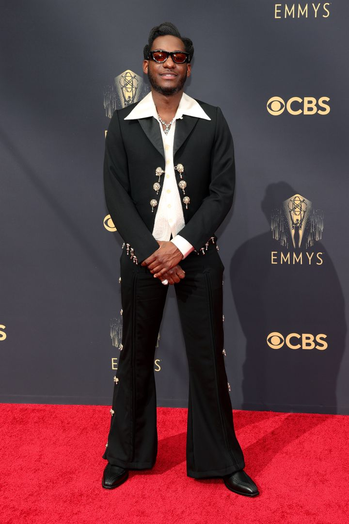 Leon Bridges attends the 73rd Primetime Emmy Awards at L.A. Live on Sunday in Los Angeles.