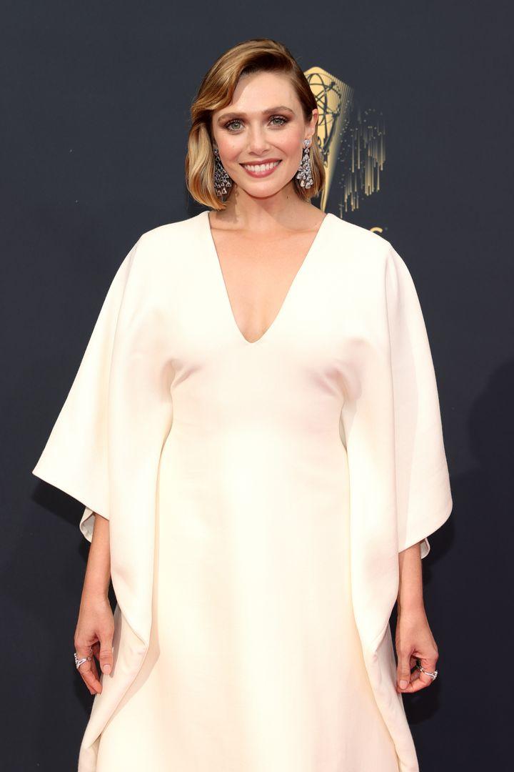 Elizabeth Olsen attends the 73rd Primetime Emmy Awards.
