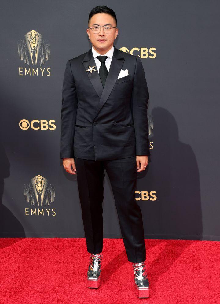 Bowen Yang attends the 73rd Primetime Emmy Awards.