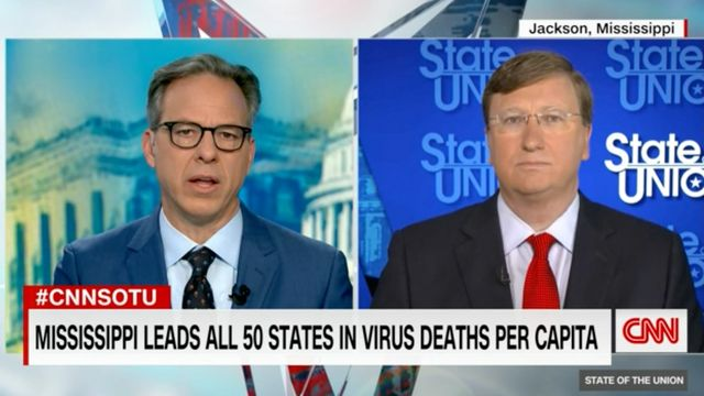 'Your Way Is Failing': Jake Tapper Grills Mississippi Gov. On COVID-19 Strategy.jpg