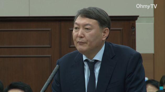 2013년 10월 국회 국정감사장에 증인으로 출석했던