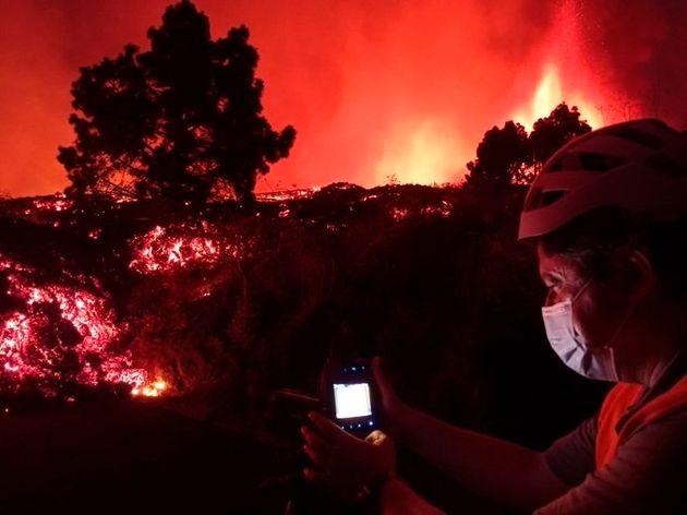 Las coladas de lava por las laderas del municipio de El Paso (La