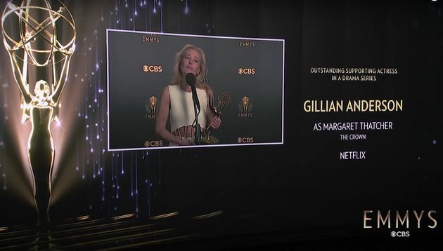 Gillian Anderson immediately after being asked whether she'd spoken to Margaret
