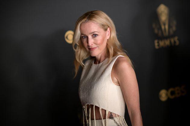 Gillian Anderson lors des Emmy Awards 2021, le 19 septembre