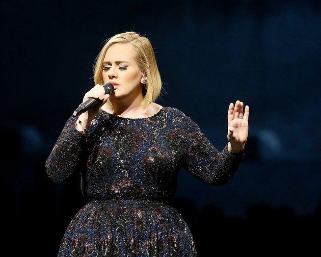 Adele on stage on November 4, 2016 in Austin,