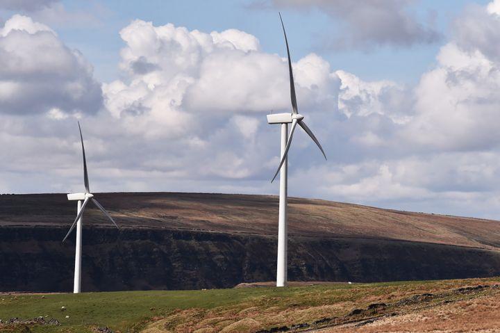 A windfarm in Burnley