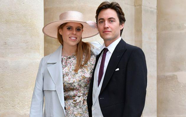 Beatriz de York y Edoardo Mapelli Mozzi, en la boda de Jean-Christophe Napoleon y Olympia Von