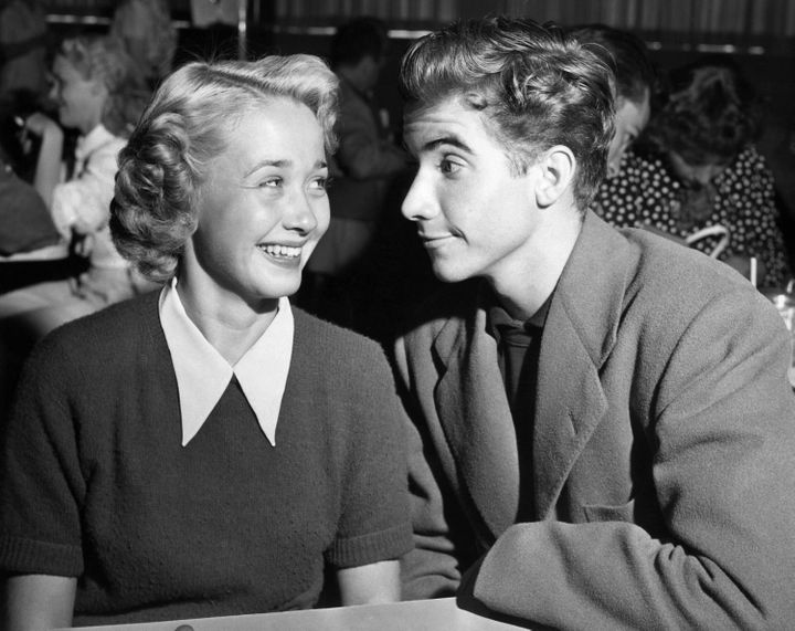 """File photo from 1949 shows Jane Powell and Scotty Beckett, who starred in the film """"Nancy Goes to Rio."""""""