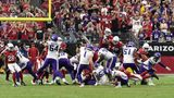 GLENDALE, ARIZONA - SEPTEMBER 19: Kicker Greg Joseph #1 of the Minnesota Vikings misses a game-winning field goal attempt against the Arizona Cardinals late in the fourth quarter of the game at State Farm Stadium on September 19, 2021 in Glendale, Arizona. (Photo by Norm Hall/Getty Images)