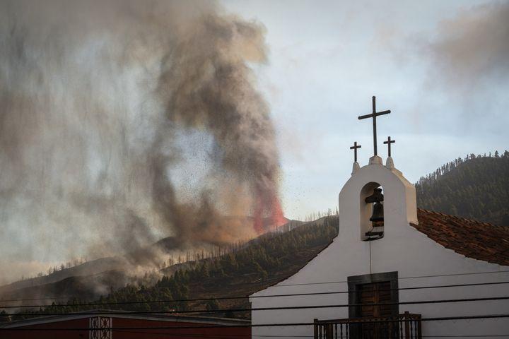 El volcán Cumbre Vieja, en El Paso