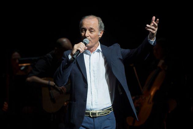 El cantante Jose Manuel Soto en un concierto por su 30 aniversario en la música, en