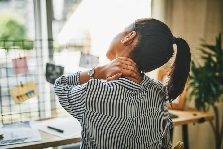 Adjusting your posture can help you be more alert.