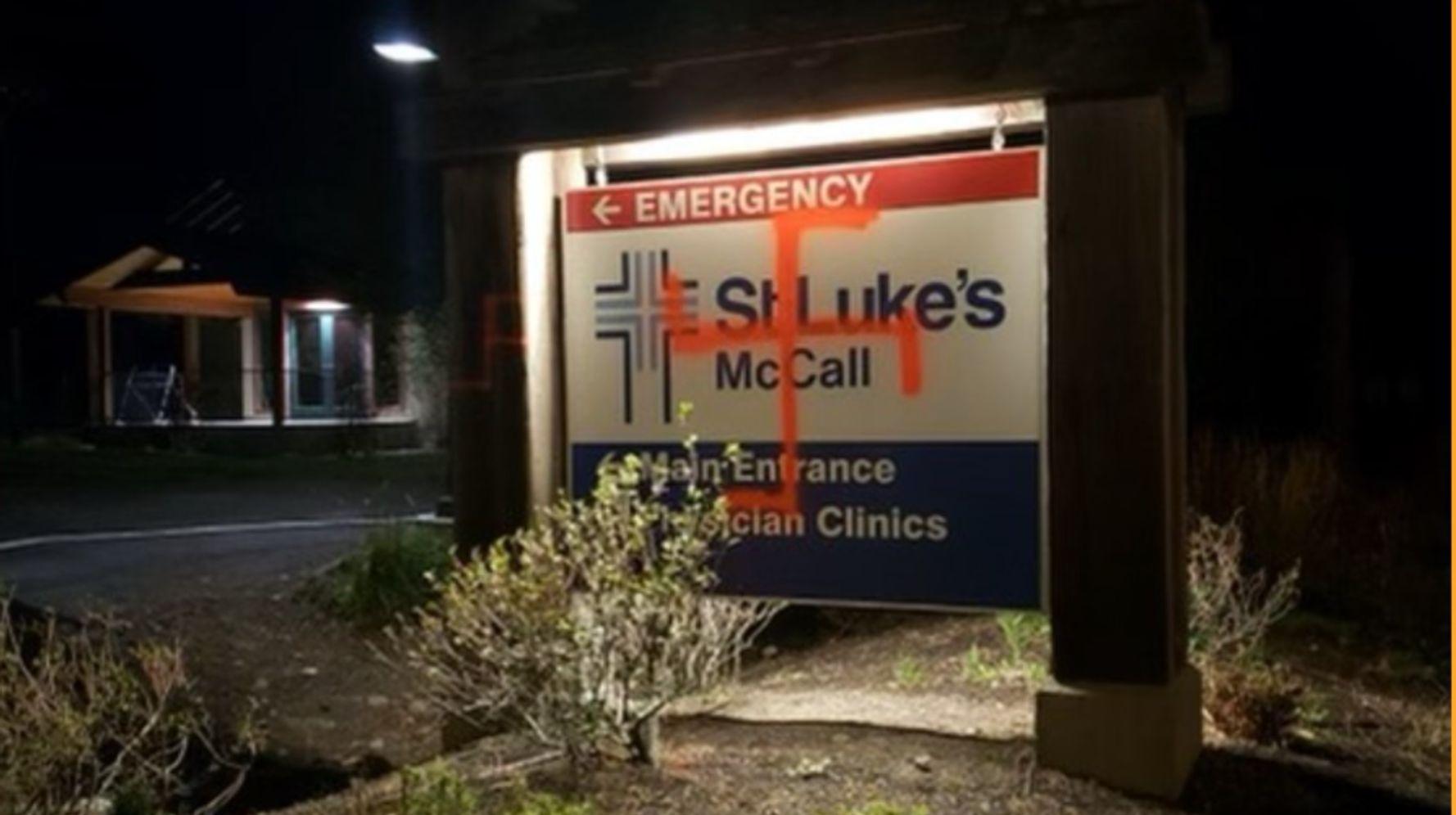 Idaho Hospital Vandalized With Spray-Painted Swastikas