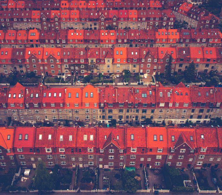 Οι ιστορικές στέγες του Lyngbyvejskvarteret στην Κοπεγχάγη