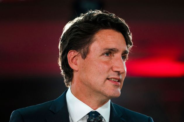 Canadian Prime Minister Justin Trudeau delivers his victory speech after general elections at the Queen...