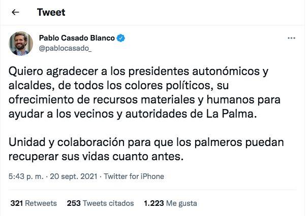 El tuit de Pablo