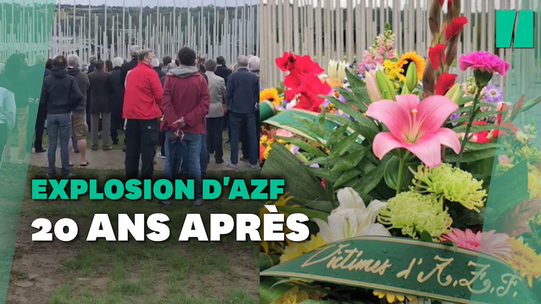 Explosion de l'usine AZF de Toulouse: les images de l'hommage aux victimes 20 ans après