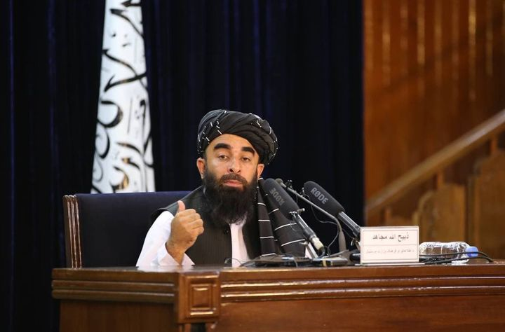 Taliban spokesperson Zabihullah Mujahid held out the possibility of adding women to the Cabinet at a later time, but gave no specifics.