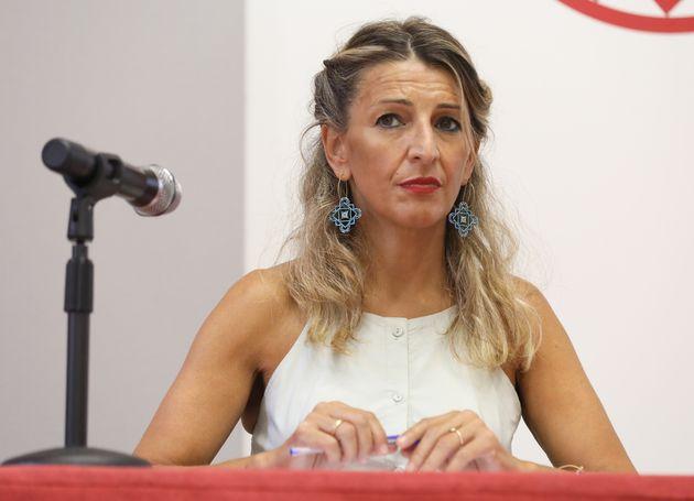 Yolanda Díaz, el pasado 22 de
