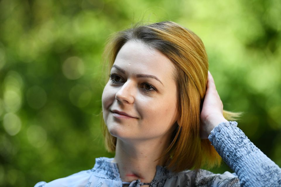 Yulia Skripal speaks to a journalist two months after being poisoned in