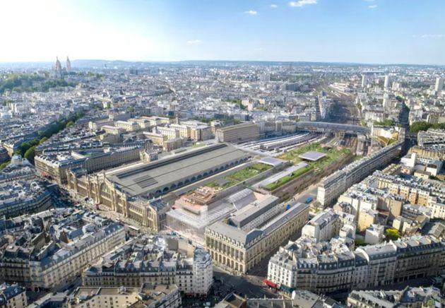 Le projet de rénovation de la Gare du Nord tel qu'il avait été envisagé par...