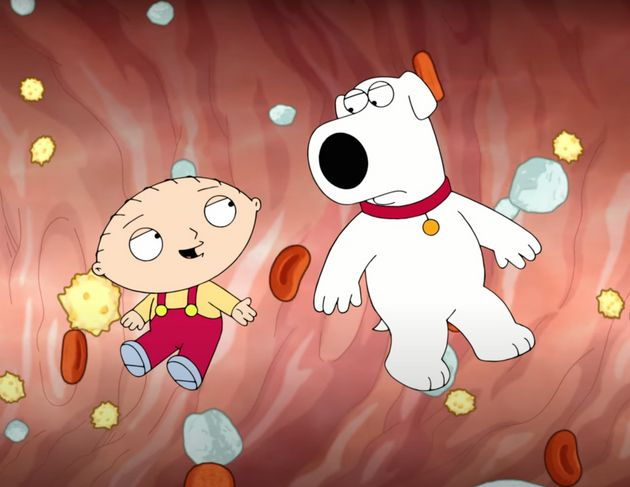 Screen shot of Family Guy Covid-19 Vaccine Awareness