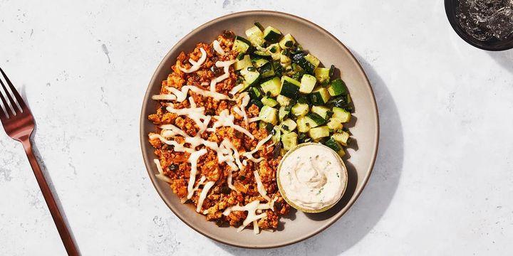 Keto Turkey Chili & Zucchini with Ancho Lime Crema