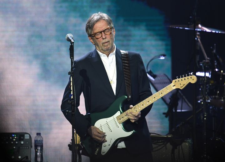 """Eric Clapton performs at Music for the Marsden 2020 at The O2 Arena in London. The famed guitarist said in July: """"I wish to say that I will not perform on any stage where there is a discriminated audience present."""""""