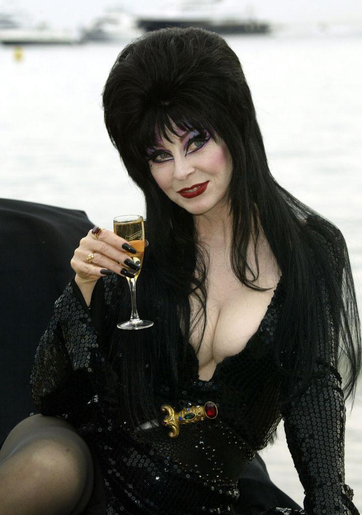 Cassandra Peterson, aka Elvira, at the 2003 Cannes Film Festival.