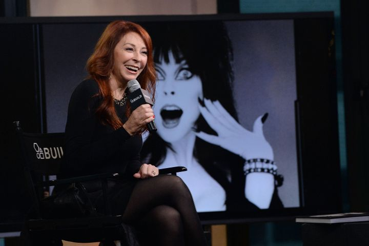 """Peterson attends and AOL """"Build"""" event to discuss her iconic character, Elvira, in 2016."""