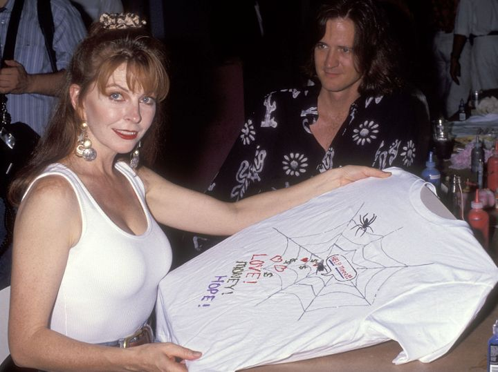 Peterson attends the Northern Lights Alternatives/LA's Celebrity T-shirt Auction and Fashion Show in 1991.