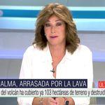 La pregunta de Ana Rosa durante la cobertura del volcán de La Palma que indigna en