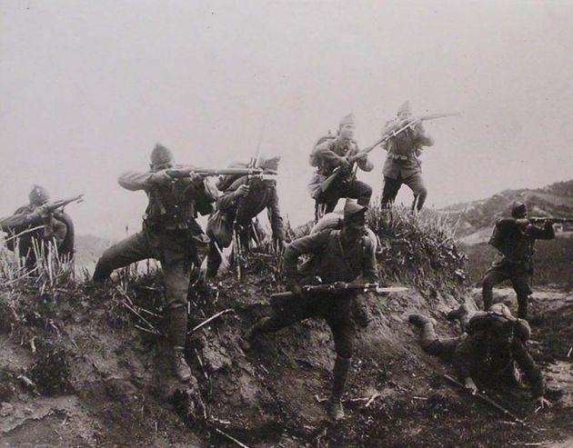 Έφοδος Ελληνικού Πεζικού κοντά στον ποταμό Ερμό κατά την Μικρασιατική