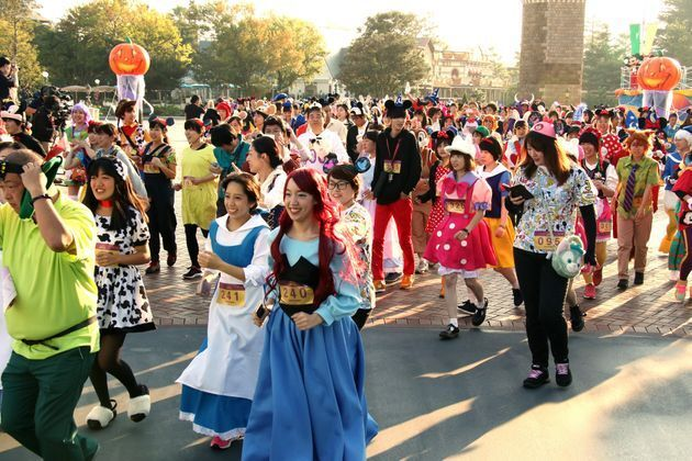 東京ディズニーランドで行われた仮装マラソン大会「ディズニー・ハロウィーン・ファン・アンド・ラン」(千葉県浦安市)※写真は2017年10月撮影
