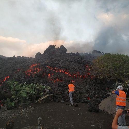 Erupción del volcán de La