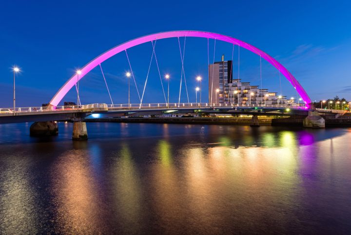 The Clyde Arc over the River Clyde, Glasgow