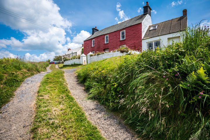 Colourful coastal cottages in Pembrokeshire
