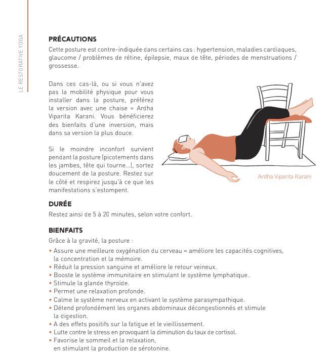 Restorative Yoga, ein Yoga, dessen Körperhaltungen den Körper von seinen muskulären Verspannungen befreien.