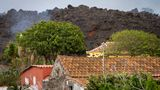 Lava from a volcano eruption flows on the island of La Palma in the Canaries, Spain, on Sept. 22, 2021.