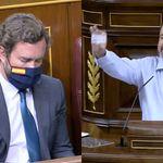 Un diputado de UP mira a Espinosa de los Monteros, le enseña su DNI y deja una frase