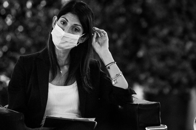 Virginia Raggi during the press conference for the presentation of the redevelopment project of Piazza...