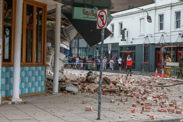 Buildings were damaged by the earthquake but there have not been any reports of serious