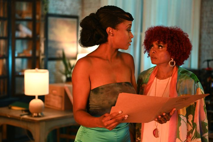 """Yaya DaCosta (left) and Debbi Morgan (right) in """"Our Kind Of People."""""""