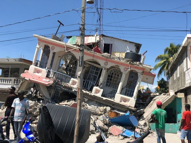 A damaged building in Haiti after the earthquake in