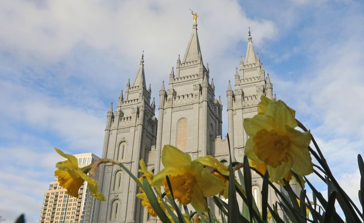 The Church of Jesus Christ of Latter-day Saints announced Wednesday that masks will be required inside temples to limit the spread of COVID-19. (AP Photo/Rick Bowmer, File)
