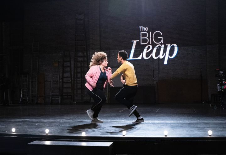 """Simone Recasner and Raymond Cham Jr. as Gabby and Justin on the new FOX show """"The Big Leap,"""" which is about a fictional reality dance competition show."""