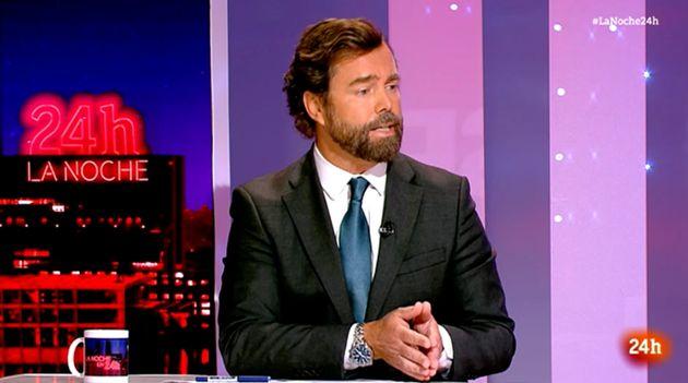 El portavoz de Vox en el Congreso, Iván Espinosa de los Monteros, en 'La noche en 24
